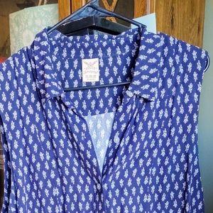 Sleeveless button up dress